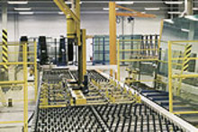 Load in glass in manufacturing line