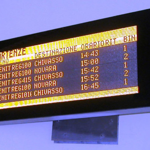 railway information board