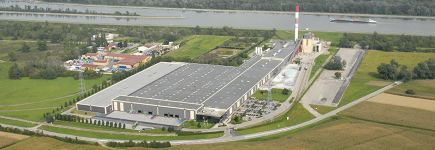 Aerial view of the Euroglas plant in Hombourg