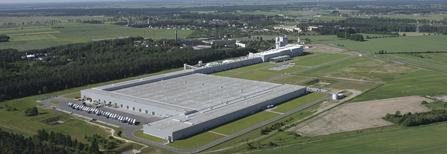 Aerial view of the Euroglas plant in Ujazd