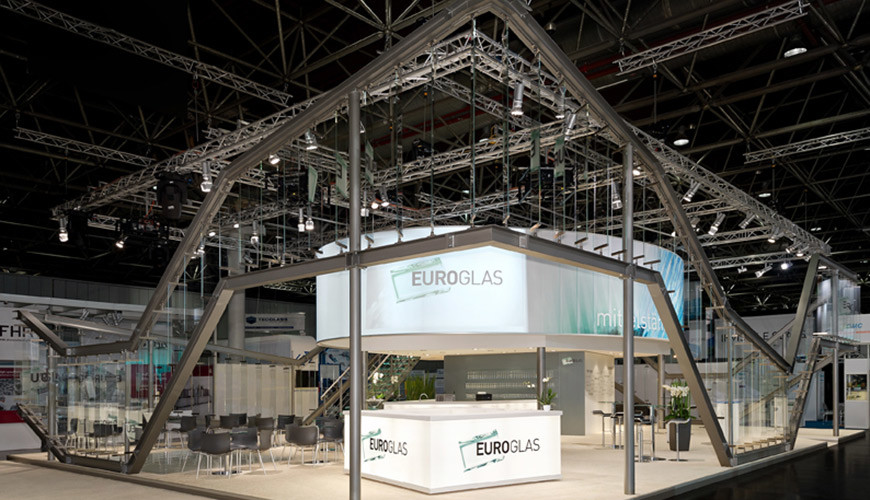 glasstec Messestand 2012 Frontansicht